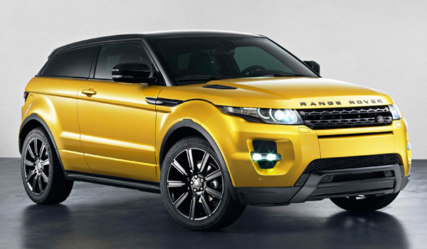 Range Rover Evoque Sicilian Yellow.
