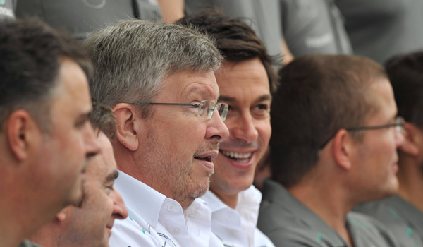 Ross Brawn con Toto Wolff.